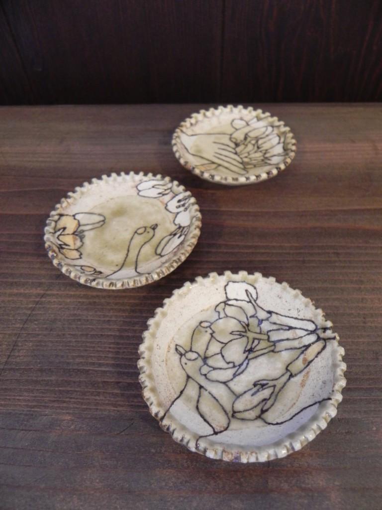 豆皿 (鶴)