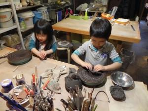 夏休みこども体験陶芸教室