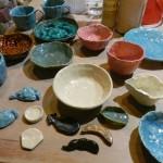 夏休みこども陶芸作品できました